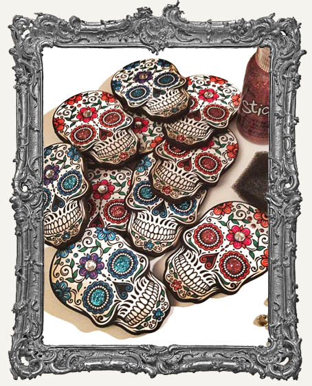 Sugar Skull Magnet KIT - Makes 4