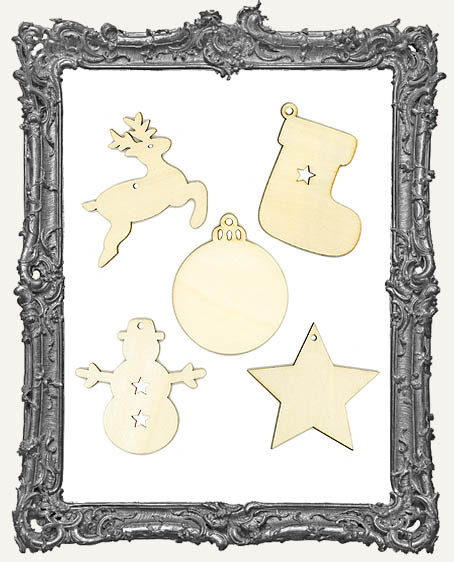 Young Artists - Wood Ornaments Set of 5 - Style 2