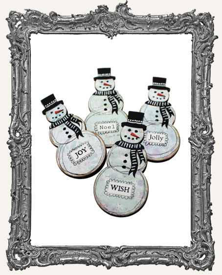 Mixed Media Snowman Magnet KIT - Makes 4