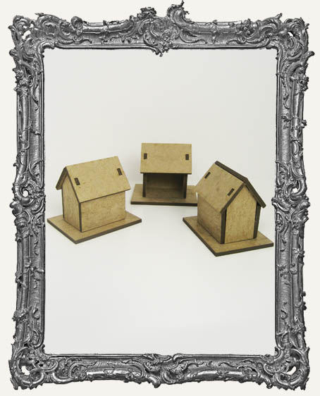 3 Small Chipboard Houses Kit