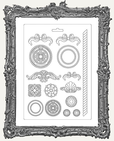 Stamperia A4 Soft Maxi Mould - Small Frames and Decorations