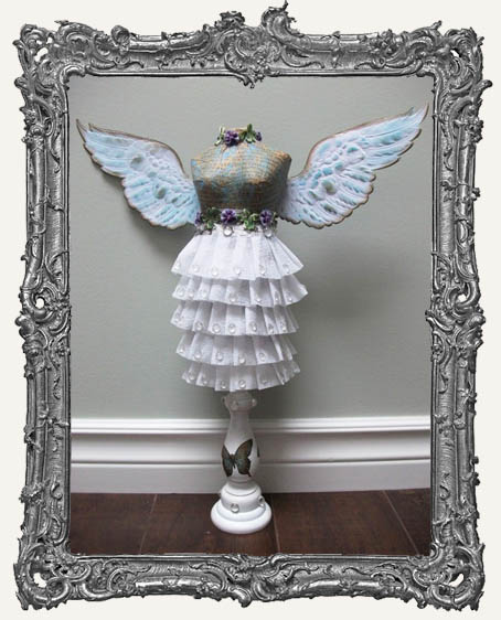 Paper Mache 8 Inch Dress Form Mannequin