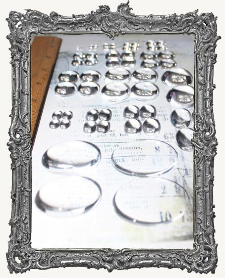 Crystal Clear Acrylic Cabochons