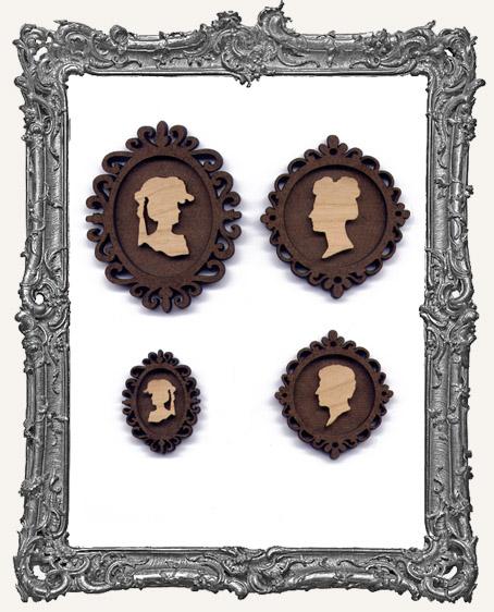 Oval Cameo Frame Sets - You Pick