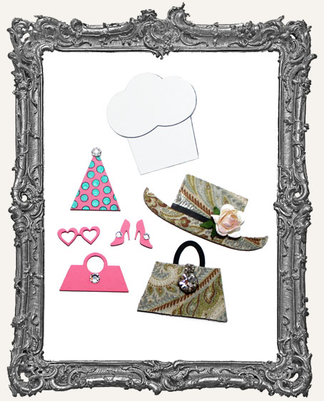 Collage Cut Outs Accessory Line Hats