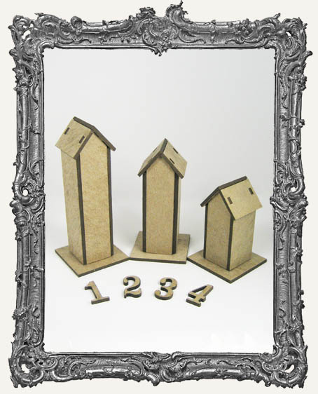 3 Chipboard Tower Houses Kit