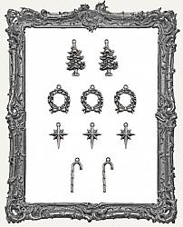 Tim Holtz - Idea-ology - 2019 Christmas Metal Adornments - Antique Nickel Yuletide