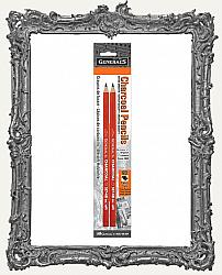 Generals Charcoal Pencils 2 Pack - 6B Extra Soft