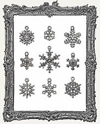 Tim Holtz - Idea-ology - 2019 Christmas Metal Adornments Antique Nickel Snowflakes