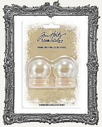 Tim Holtz - Idea-ology - 2019 Christmas Snow Globes 1.5 Inch 2 Pack