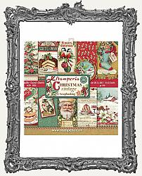 Stamperia Double-Sided Paper Pad 8X8 - Christmas Vintage