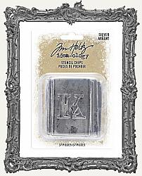 Tim Holtz - Idea-ology - Christmas Silver Stencil Chips