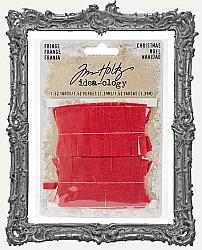 Tim Holtz - Idea-ology - Christmas Red Tissue Fringe 1.5 Yard