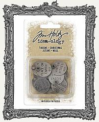 Tim Holtz - Idea-ology - 2019 Christmas Metal Typed Tokens