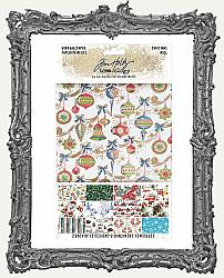 Tim Holtz - Idea-ology - 2019 Christmas Worn Wallpaper