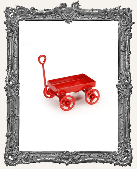 Miniature Red Metal Wagon