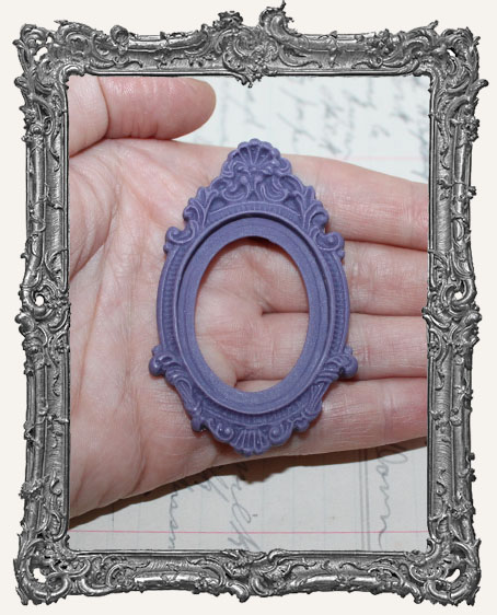 30x40mm Resin Cameo SETTING - Ornate Purple