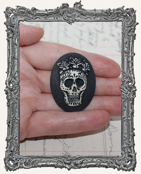30x40mm Resin Cameo - Sugar Skull
