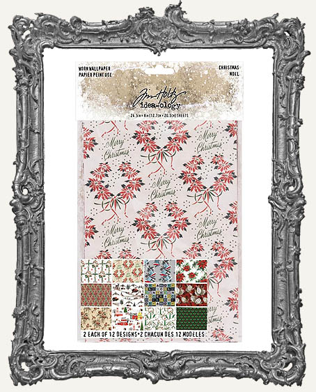 Tim Holtz - Idea-ology - Christmas Worn Wallpaper