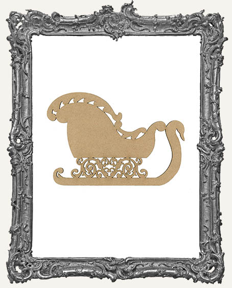 Chipboard Victorian Christmas Sleigh Cut-Out - 3 Sizes