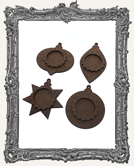 Small Layered Christmas Ornaments - Set of 4