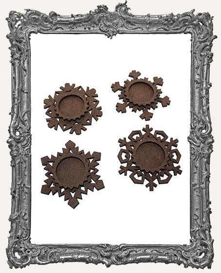 Small Layered Snowflake Ornaments - Set of 4