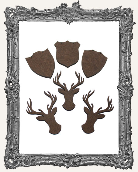Deer Mount Cut-Outs - 6 Pieces