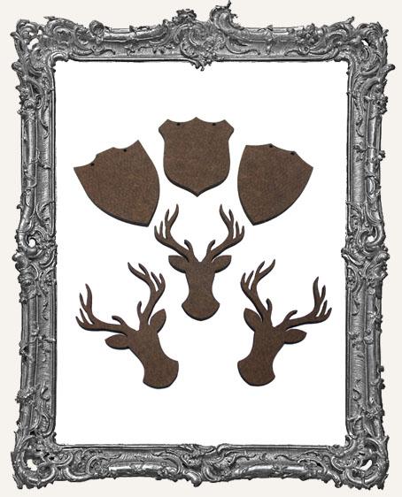 Deer Mount Cut-Outs - 6 Pieces