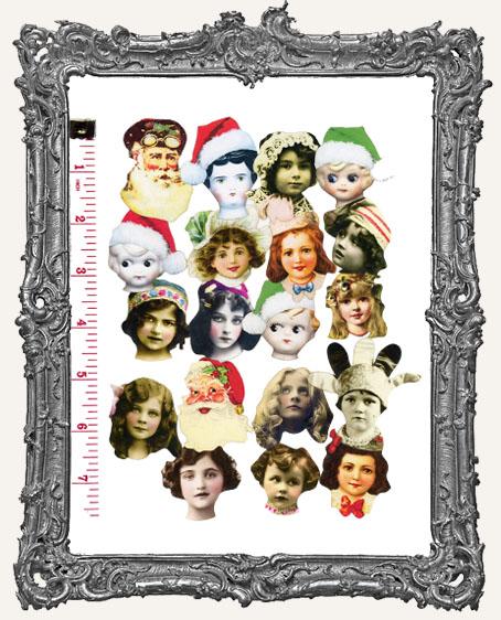 19 Medium Fairy Art Doll Head Paper Cuts Set II