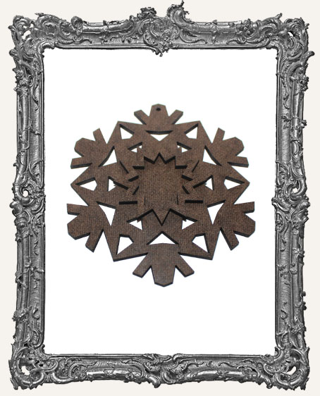Layered Masonite Snowflake Ornament - Style 1