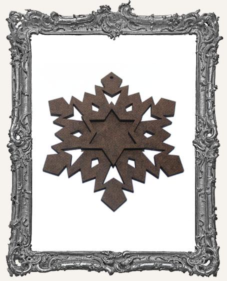 Layered Masonite Snowflake Ornament - Style 3