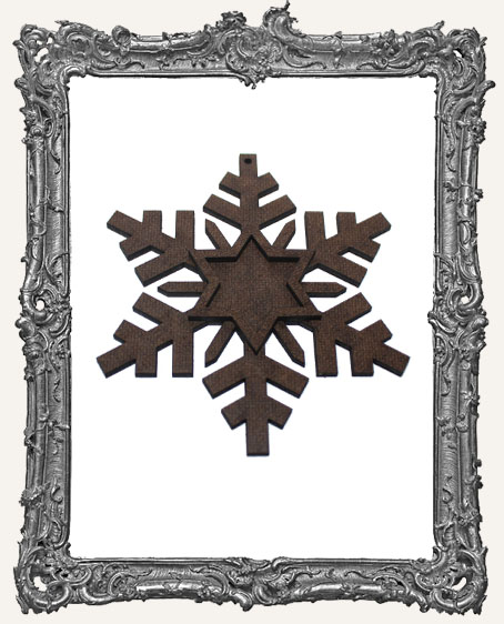 Layered Masonite Snowflake Ornament - Style 2
