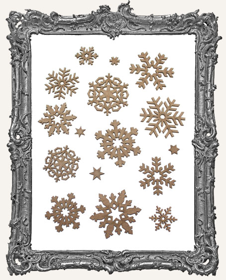 Snowflake Cut-Outs - 12 Pieces