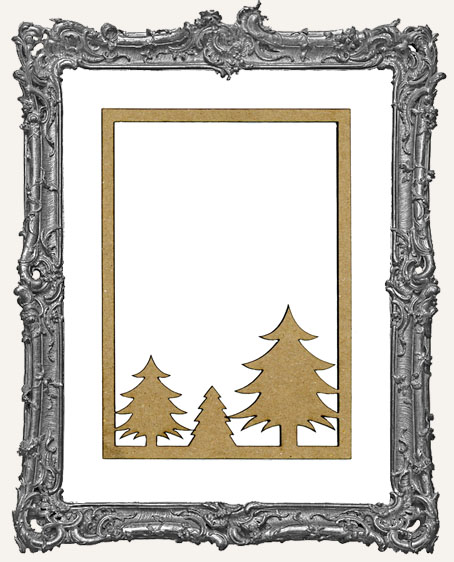 ATC Frame - Christmas Trees