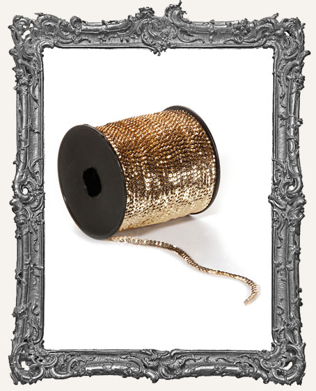 Gold Sequin Trim - 1 Yard