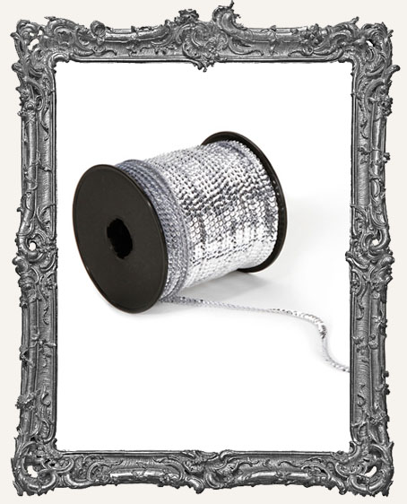 Silver Sequin Trim - 1 Yard