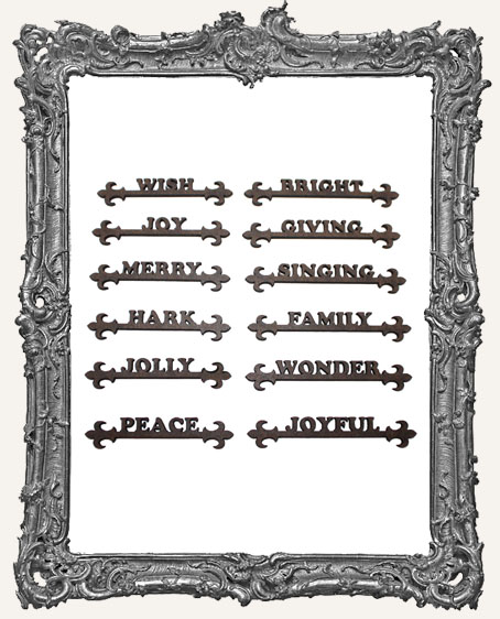 Christmas Word Scroll Cut-Outs - 12 Pieces