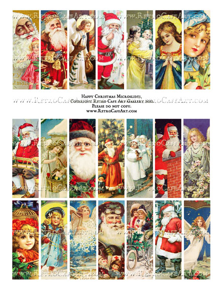 Happy Christmas Microslides Collage Sheet