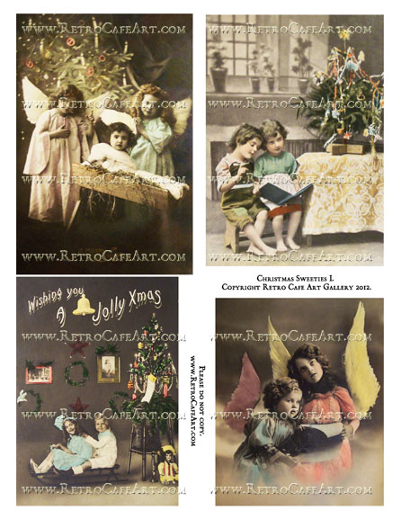 Christmas Sweeties I Collage Sheet
