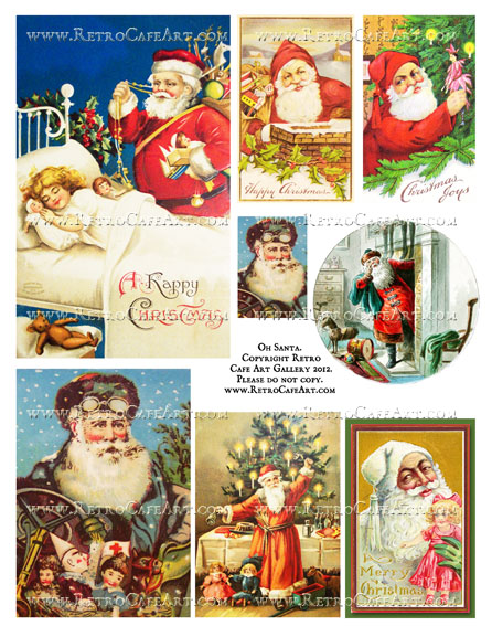 Oh Santa Collage Sheet