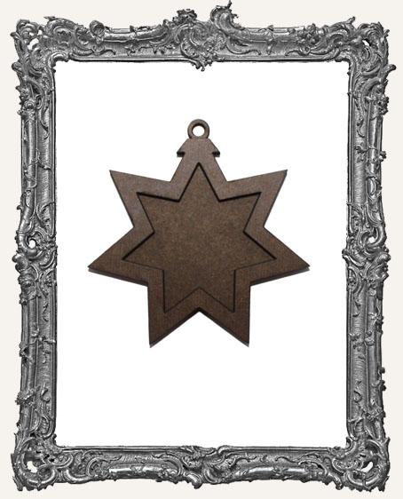 Layered Masonite Ornament - Star