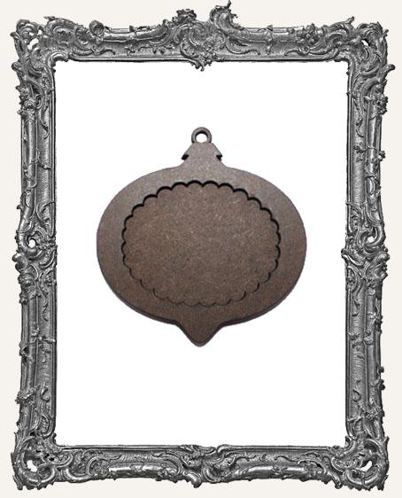 Layered Masonite Ornament - Wide Scalloped