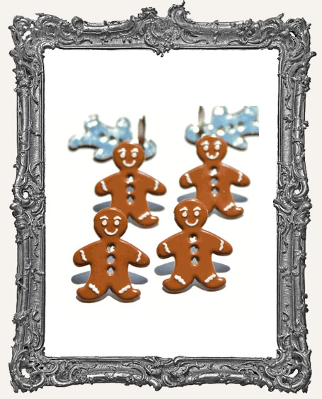 Gingerbread Man Brads - 12 Piece
