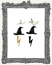 Witch Hat and Lightening Bolt Brads - 12 Piece
