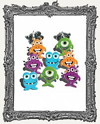 Halloween Monster Brads - 12 Piece
