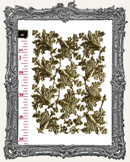 German Dresden Fancy Gold Fleur 15 Pieces
