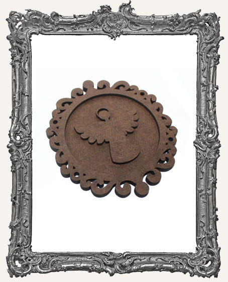 Layered Cameo Frame Silhouette Ornament - Angel