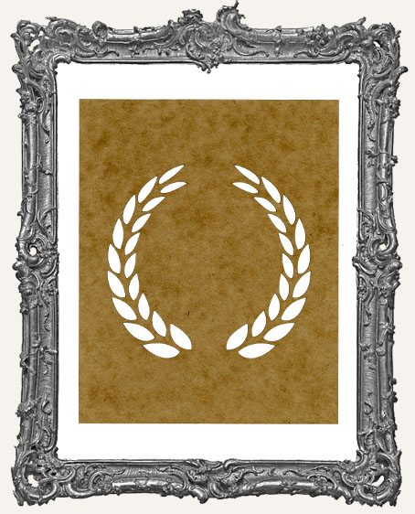 SMALL Laurel Wreath Stencil - Style 1