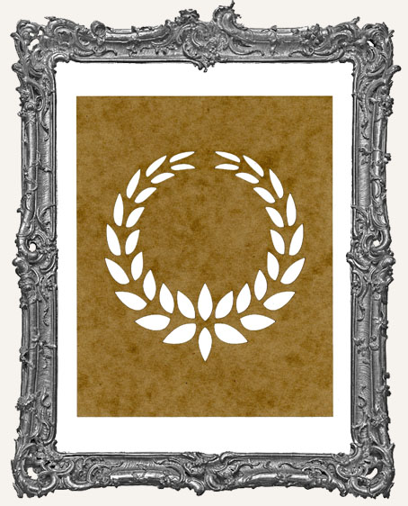 SMALL Laurel Wreath Stencil - Style 2