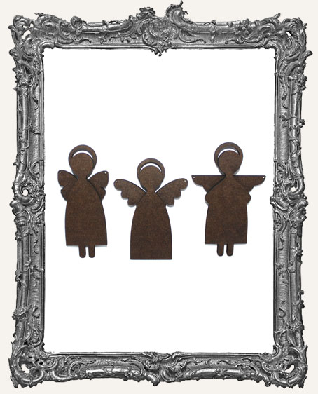 Small Primitive Angel Art Doll Cut-Outs - Short - Set of 3